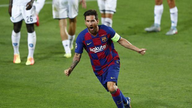 WASIT DIDAMPRAT Messi Usai Barca Menang atas Napoli di Liga Champions