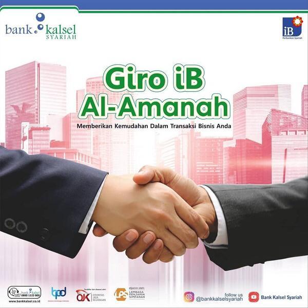 GIRO IB AL-AMANAH Produk Bank Kalsel Syariah, Fasilitasi Transaksi Bisnis