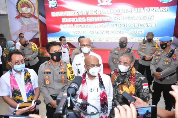 KOMISI III DPR RI Salut Pola Polda Kalsel Penanganan Aksi Demo dan Koordinasinya dengan TNI