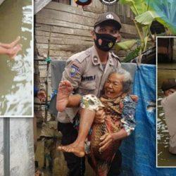 BAHU – MEMBAHU Kepolisian Evakuasi Korban Banjir