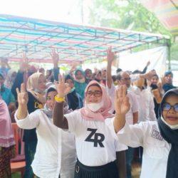 MESKI DIKEPUNG HUJAN, Ratusan Masyarakat Kuranji Deklarasi 90 Persen Kemenangan Rusli