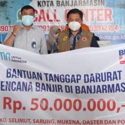 TERUS MENGALIR Bantuan untuk Korban Banjir di Banjarmasin