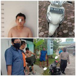 NEKAD Mendorong Motor Curian Melintas Asrama Polisi di Mulawarman Banjarmasin
