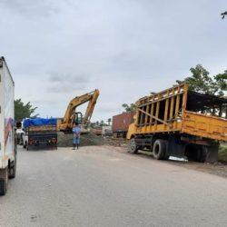 DIPERBAIKI Titik Rusak di Jalan Gubernur Subarjo