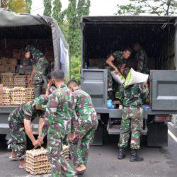 KOREM Luncurkan Bantuan Truck LCR Evakuasi Korban Banjir dan Danrem Bersama lnsan Maritim Serahkan Bansos
