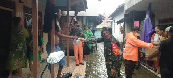DIDATA Kelurahan Terdampak Banjir dan Tiga Pilar Banjarmasin Tengah Beri Bantuan