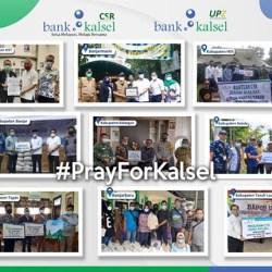 DIGELONTORKAN Bank Kalsel Dana untuk Banjir Kalsel Melalui CSR dan UPZ