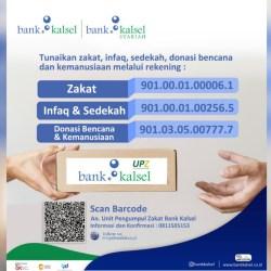 RUTIN SALURKAN Bantuan Kemanusiaan, Kenali Unit Pengumpul Zakat (UPZ) Bank Kalsel