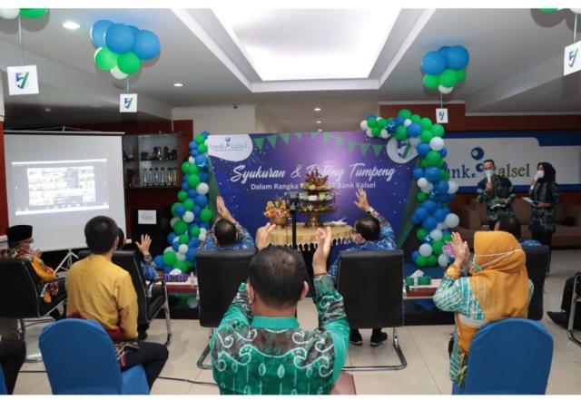 RAYAKAN HUT ke-57 tahun 2021, Bank Kalsel Gelar Syukuran