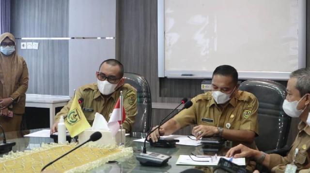 Pemerintah kota Banjarmasin menggelar rapat terkait pembahasan penyederhanaan birokasi di lingkungan Pemko Banjarmasin (3)