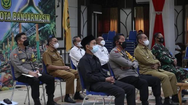 Video Conference soal arahan dari Presiden Republik Indonesia tentang kurva Covid-19