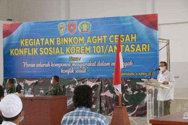 CEGAH KONFLIK Sosial, Korem101/Antasari Sosialisasi Binkom AGHT