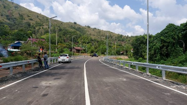 SELESAI Jembatan Aranio Bisa Dilalui Pengendara Roda 2 dan 4