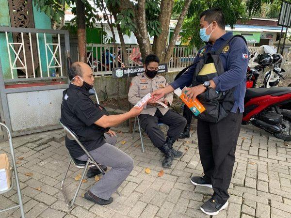 TIM URKES Polresta Banjarmasin Pantau Kesehatan Personil Terlibat Pengamanan Tahapan Rekapitulasi PSU