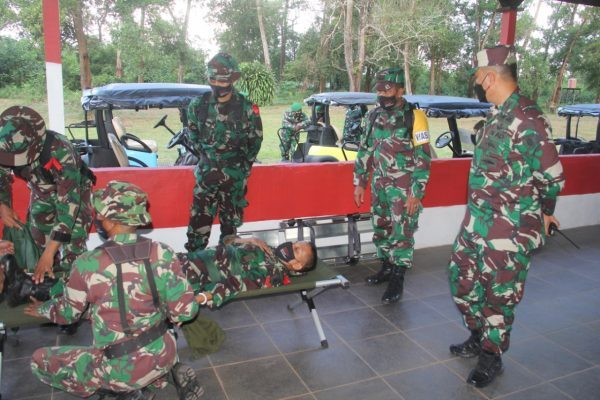 SAMBANGI Personel Satgas Apter Satgas BKO Kodim di Papua, Begini Penekanan Wakasad