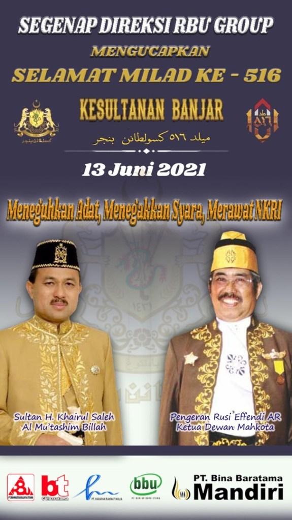 PT RBU Group - Milad Kesultanan Banjar