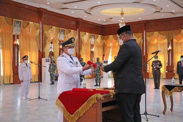 Pelantikan Walikota & Wakil Walikota Banjarmasin di gedung Mahligai Pancasila, Banjarmasin
