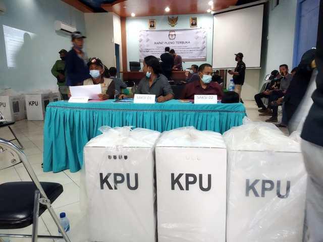 Rekapitulasi suara hasil Pemungutan Suara Ulang (PSU) Pemilihan Gubernur dan Wakil Gubernur (1)
