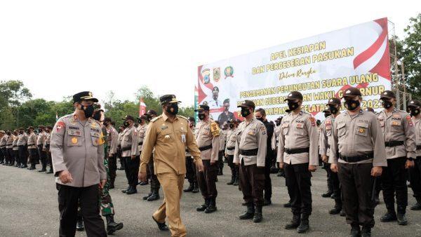 BERSIAP BERGESER 2.468 Personel Gabungan Amankan PSU Pilgub Kalsel
