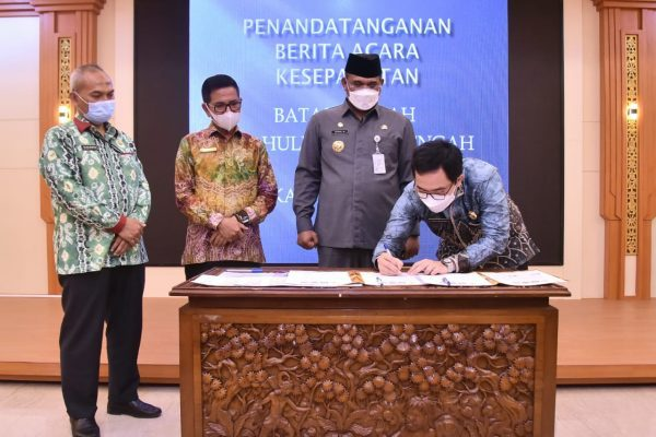 SENGKETA Tapal Batas Daerah HST dengan Kotabaru Diselesaikan