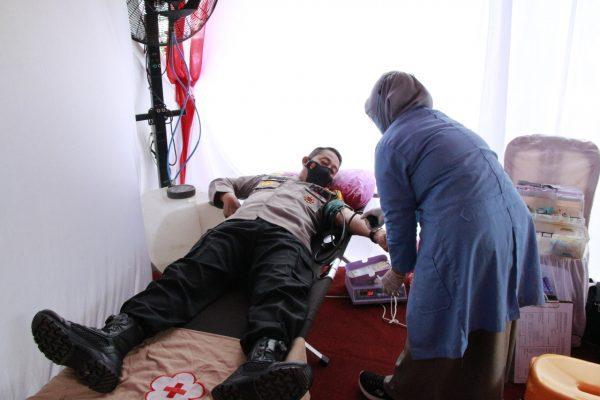 SERATUS KANTONG Darah di Polresta Banjarmasin Terkumpul
