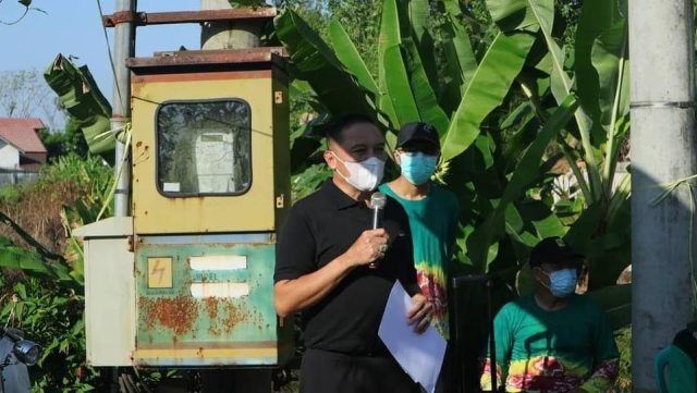 Pelaksana harian (Plh) Sekretaris Daerah kota Banjarmasin, H. Mukhyar, M.Ap memimpin hari peringatan Lingkungan Hidup