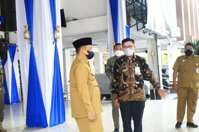 Bank Syariah Indonesia (BSI) menyerahkan secara simbolis hewan potong untuk perayaan Hari Raya Idul Adha 1442 (2)