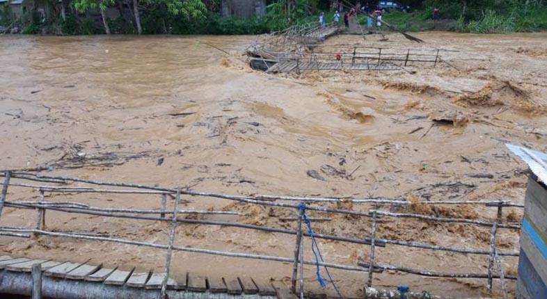 RUSAK akibat Banjir, RPK dan VRI bakal Bangun Jembatan Gantung di Desa Alat HST