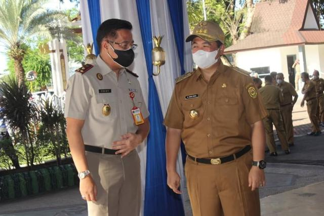 Upacara yang bertempat di Halaman Balaikota Banjarmasin (2)