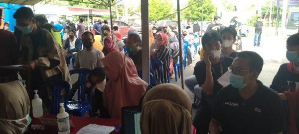 WARGA Ada tak Kebagian Vaksin di Gerai Mapolsek Banjarmasin Tengah