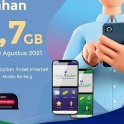 BELI PAKET Kuota Telkomsel Melalui Bank Kalsel Dapat Bonus 3,7 GB, Sambut Kemerdekaan ke-76
