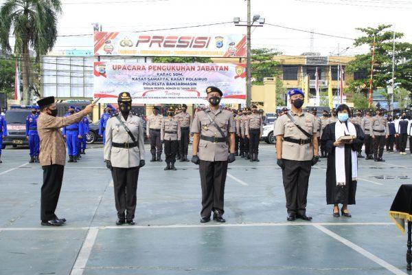 DIKUKUHKAN 3 Pejabat Utama Polresta Banjarmasin