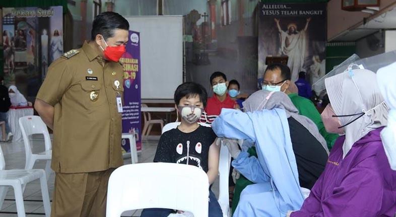 VAKSINASI MERDEKA Massal di Banjarmasin untuk Kejar Target 70 Persen