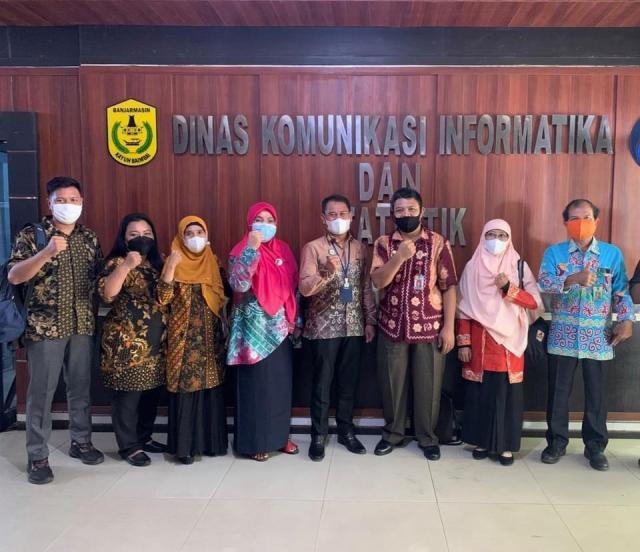 BELAJAR Smart City, Diskominfotik Barsel Silaturrahmi ke Banjarmasina (2)