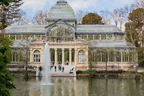Palácio de Cristal no Parque de El Retiro em Pontos Turísticos em Madri