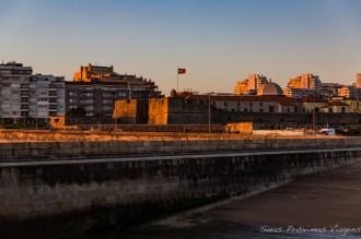 Fortaleza de São João da Foz ao entardecer em Porto