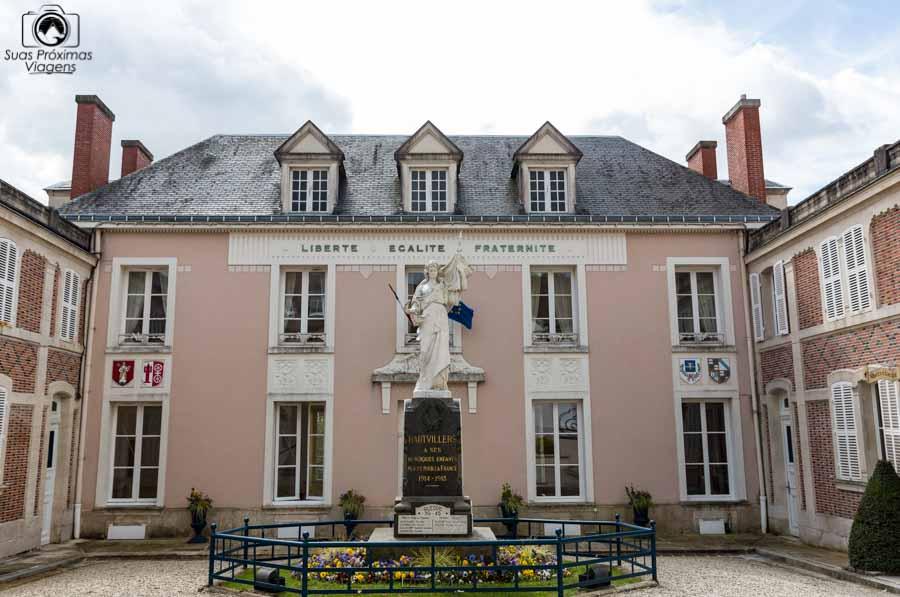 Imagem do Hautivillers na região de champagne