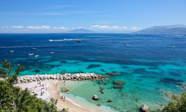 Vista da Praia de Capri