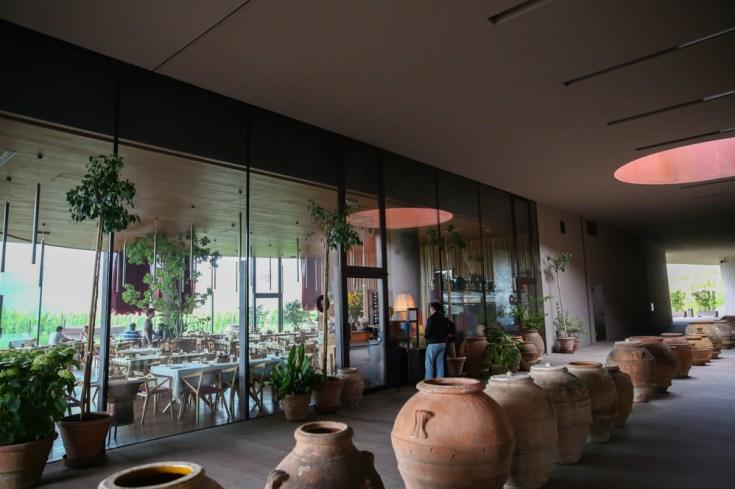 Restaurante da Antinori nas Vinicolas da Toscana