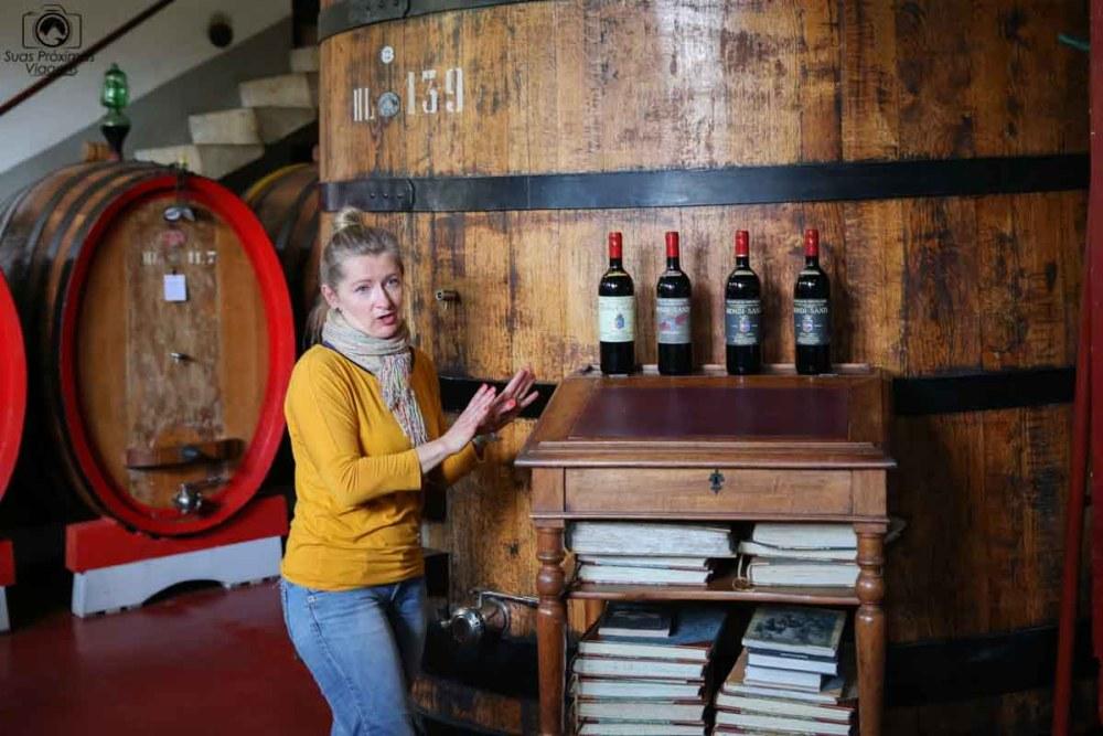 Apresentação na Biondi Santi, umas das Vinícolas da Toscana Italia