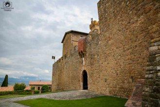 Entrada Museu do Castelo Banfi nas Vinícolas da Toscana