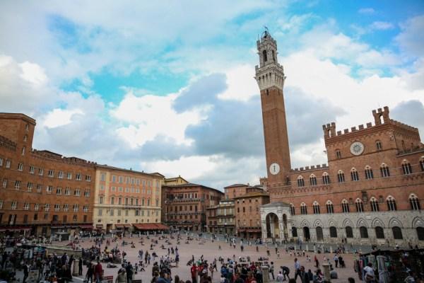 Região Central de Siena na Toscana