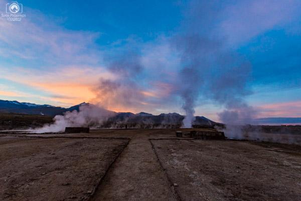 Amanhecer nos Geysers del Tatio no Deserto Atacama Roteiro