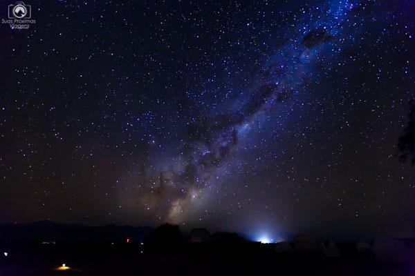 Via Láctea vista no Tour Astronômico