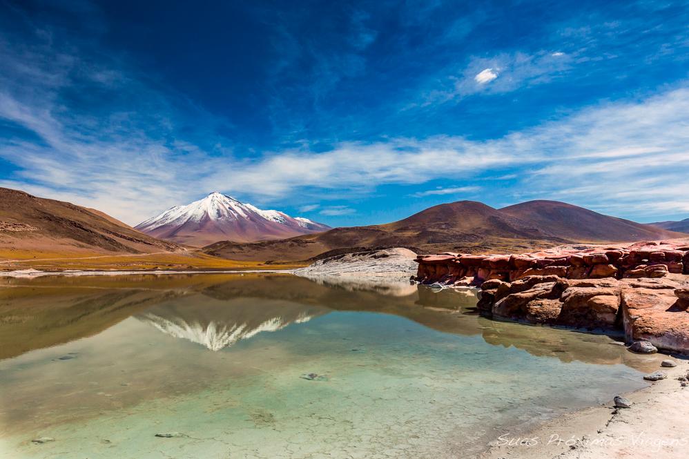 Vista do Vulcão desde as Águas Calientes no Período Sabático