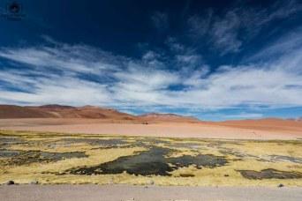 Vista do Mirador Quebrada Quepiaco no Salar de Tara no Deserto do Atacama