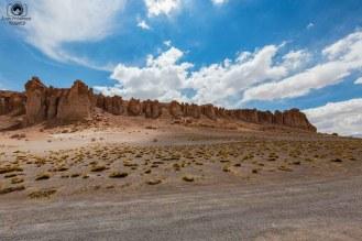 Vista das Catedrais do Salar de Tara no Deserto do Atacama