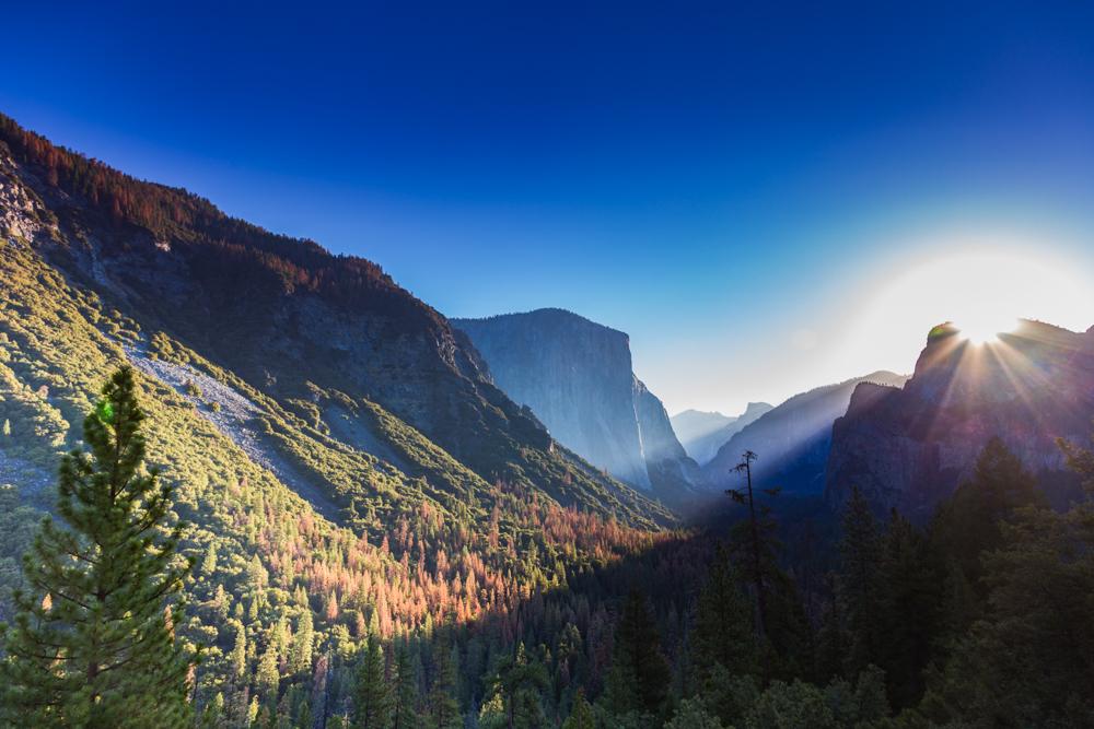 Golden Hour no El Capitan no Parque Nacional Yosemite