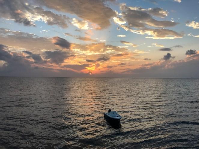 Pôr do Sol nas Ilhas Maldivas