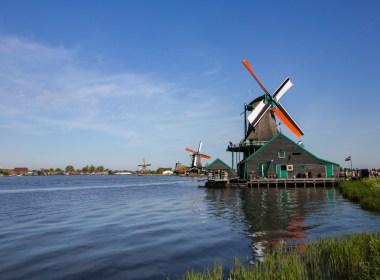 Parque dos Moinhos na Holanda